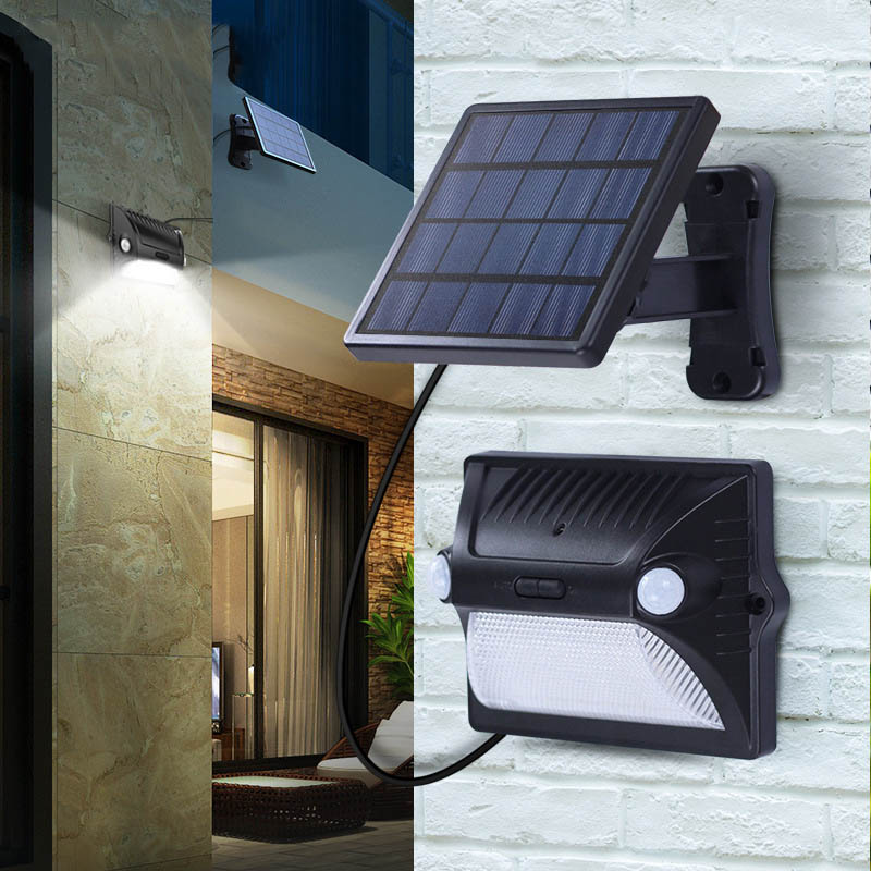 TAMPROAD Solar Lights Split Solar Body Induction Lamp 12 LED Outdoor Patio Landscape Waterproof Wall Lamp For Lawn Garden Road