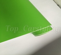 1.52x10m/roll Matt Apple Green Car Wraps Matte Vinyle Foile With Air Release For Car Body Wrapping