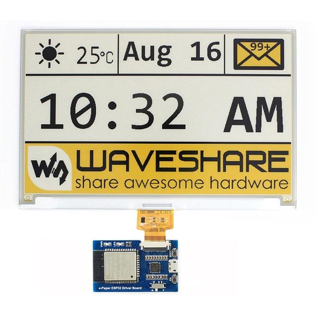 SPI E Pape ESP32น้ำหนักเบาWIFIบอร์ดUniversal Waveshareไร้สายแผงหมึกหน้าจออินเทอร์เน็ตบลูทูธใช้งานง่าย