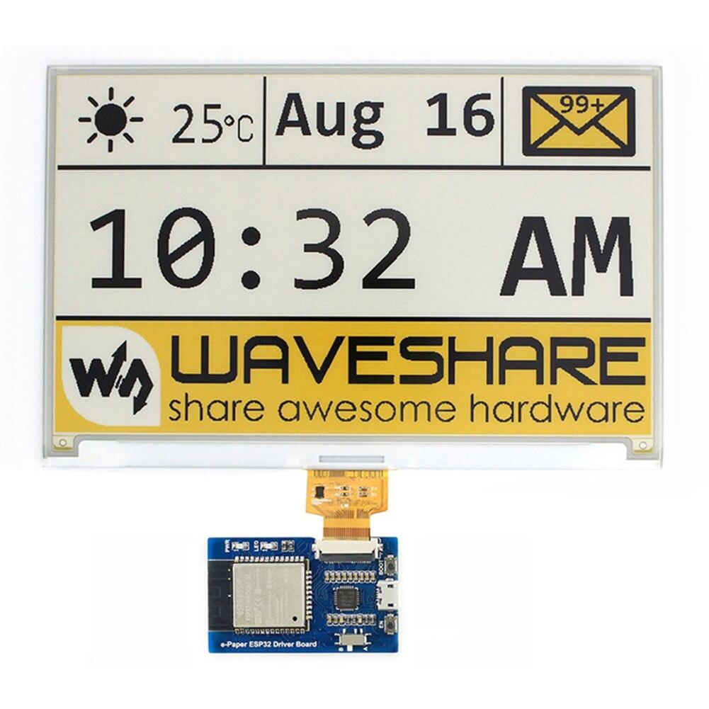 Spi e-pape esp32 leve wifi placa de motorista universal waveshare sem fio painéis crus tela de tinta bluetooth internet fácil uso