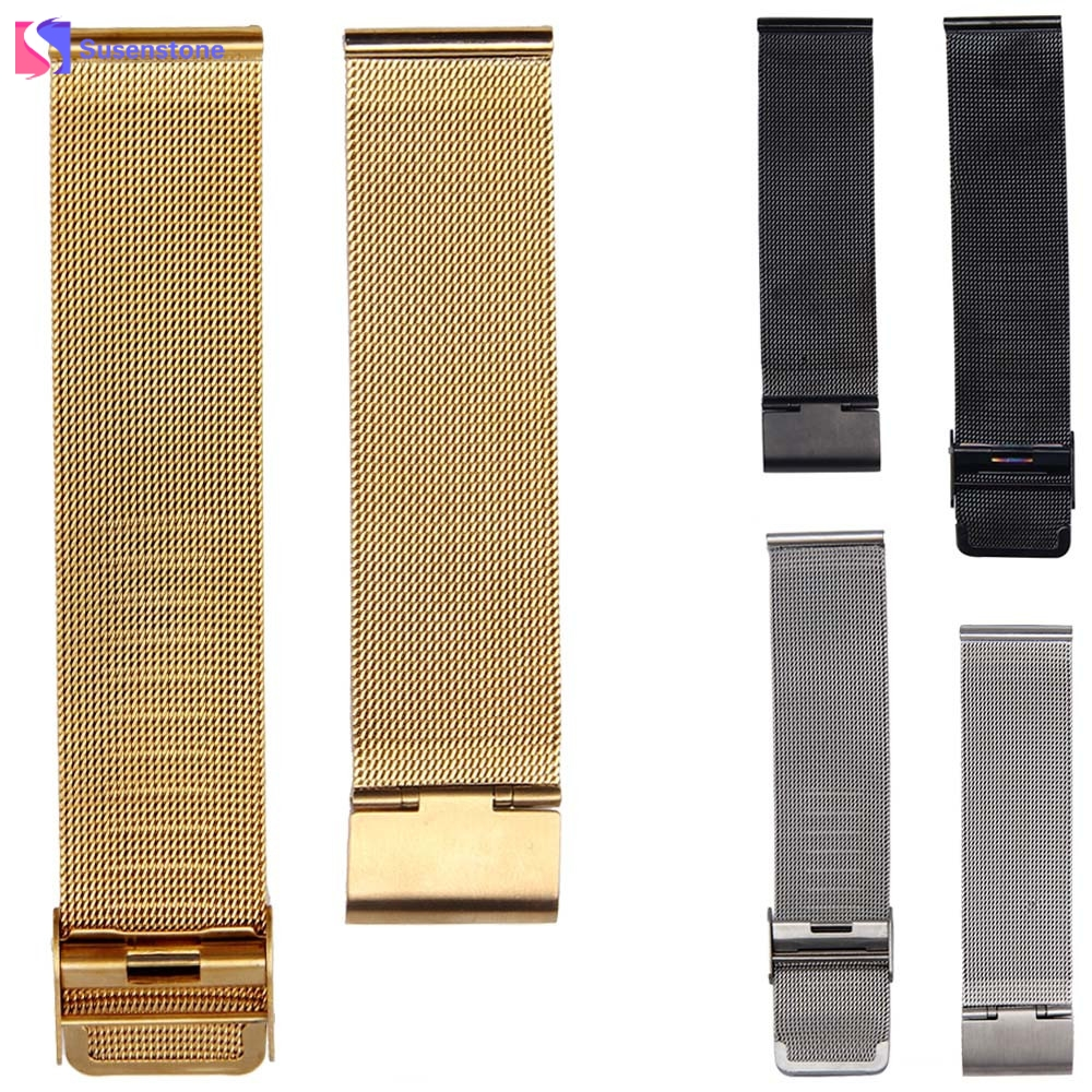 20MM Milanese Gold/Silver/Black Stainless Mesh Steel Strap Watchband Fashion Luxury Wrist Watch Band Replacement 28mm convex stainless steel watchband replacement watch band butterfly clasp strap wrist belt bracelet black rose gold silver