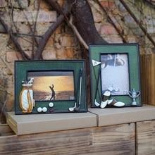 골프 공 백 봉 3D 수지 기념 공예 personalized soft swing sets photo frame birthday gift 상 대 한 game 클럽 선물