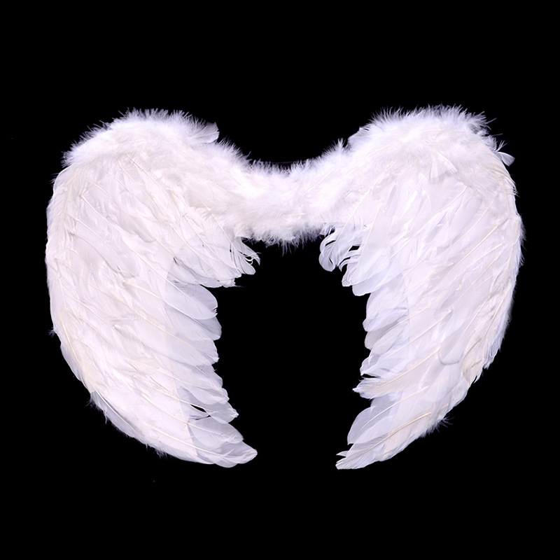 S//M//L Angel Feather Wings Photo Prop Stage Show Costume Wedding Party