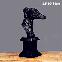 Abstraction Rabbits Dog Statue Animal Movement Centralized Style Desktop Decoration Office Creative Colophony Crafts L2718