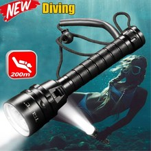 10000 Lumens Stepless dimming Torch 5 x T6 Diving LED Flashlight  200M Underwater Waterproof Light Tactical Flashlight Lantern ultrafire wg 004 2500lm 3 led cool white dimming diving flashlight black 2 x 18650