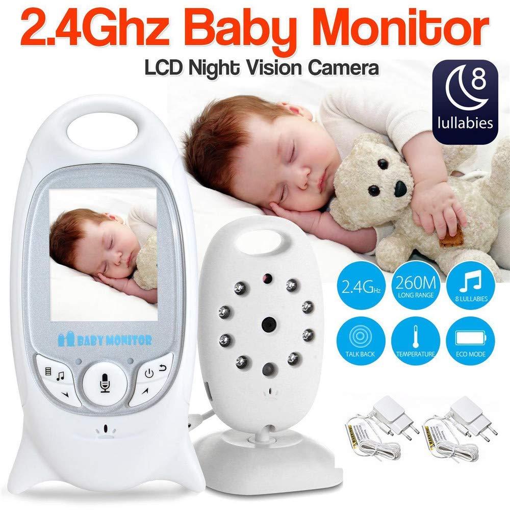 babykam radio babysitter for kids monitor English menu 2 0 inch LCD 8 Lullabies Temperature monitor