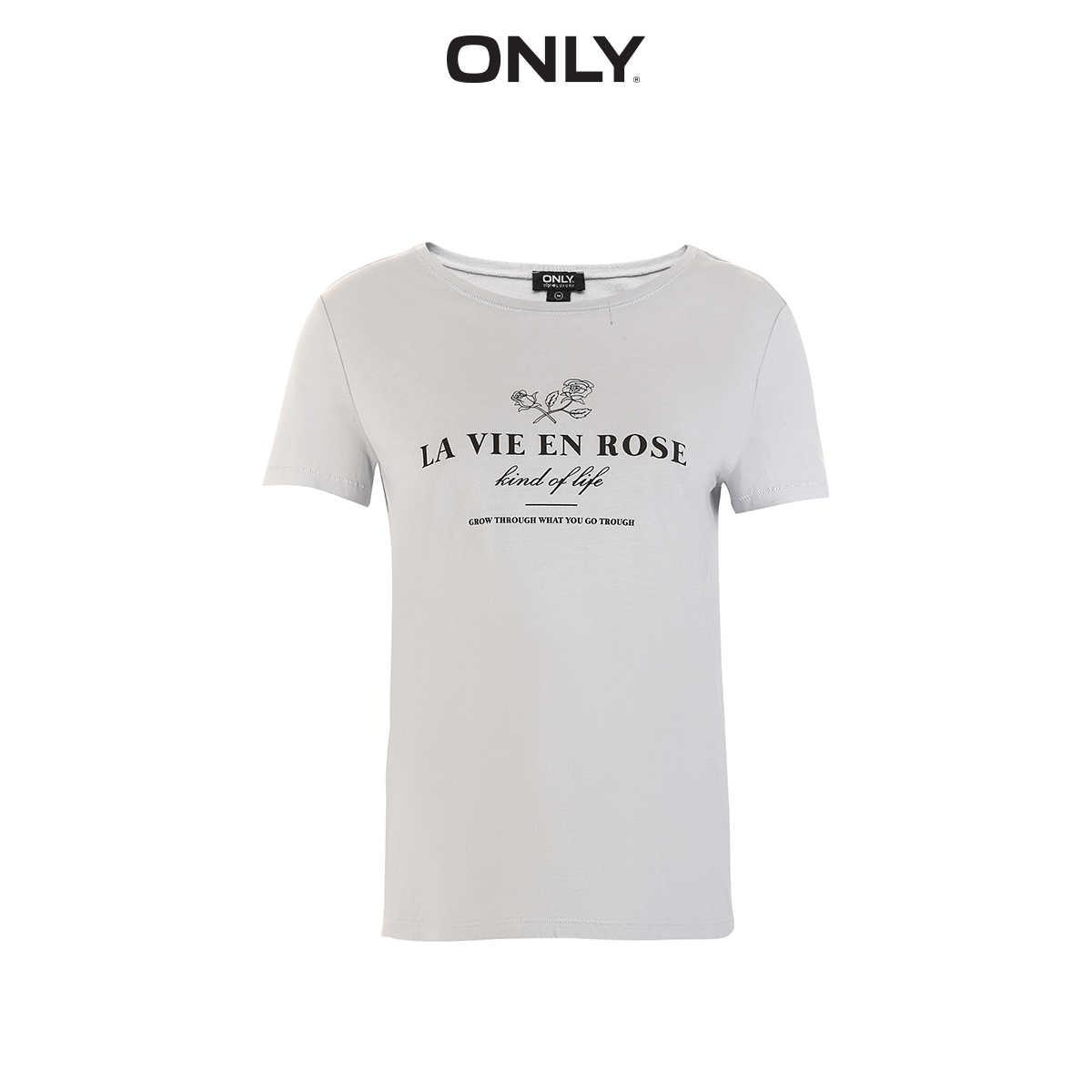 ONLY2019 sommer neue ins brief einfach gerade dünne weiche kurzen ärmeln t-shirts weibliche | 119101576