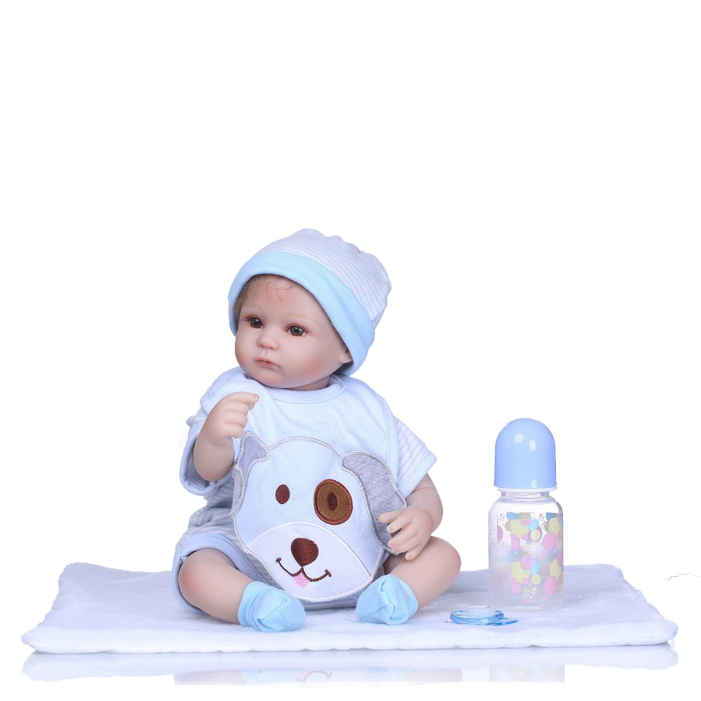 "NPKCOLLECTION 16"" girl doll reborn silicone vinyl children play house toys bebe gift boneca reborn silicone reborn baby dolls-in Dolls from Toys & Hobbies    1"