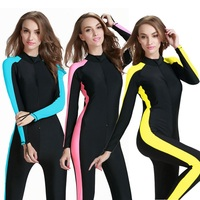 Plus 4XL Diving Wetsuit Women Men Girl Swimwear Surfing Swimsuit Jumpsuit One Piece Long Sleeved Sunscreen