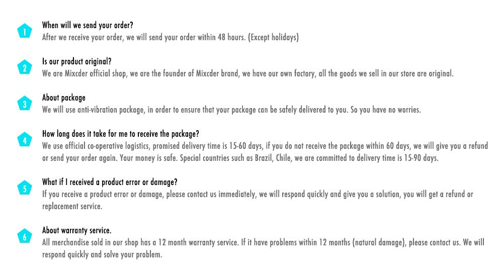 mixcder-FAQ