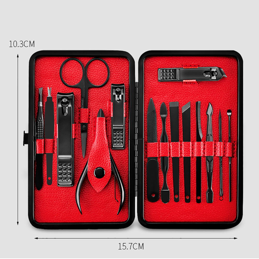 New 15Pcs Stainless Steel Grooming Set 11