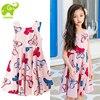 Big Girl Floral Sundress For Child 3 14T Summer Beach Dress Girls Party Clothes Kids Teens
