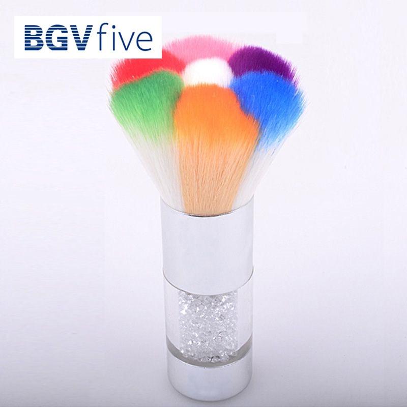 Nail Art Brush Cleaner: 11CM Colorful Nail Dust Brushes Acrylic Nail Gel Powder