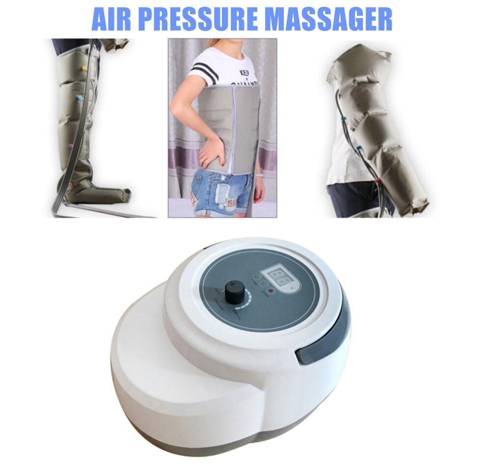Air Pressure Massager 110V 220V Air Pressure Massaging Machine Release Edema Varicosity Myophagism W Free Arm Leg Waist Cuff universal electric pressure cooker parts air pressure release valve set