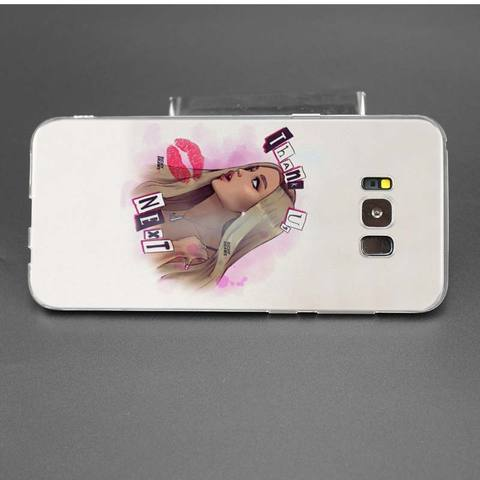 Case for Samsung Galaxy Note 8 9 S10e S10 5G S9 S8 Plus M10 M20 M30 S7 S6 Soft TPU Phone Cover shell Thank U Next Ariana Grande Lahore