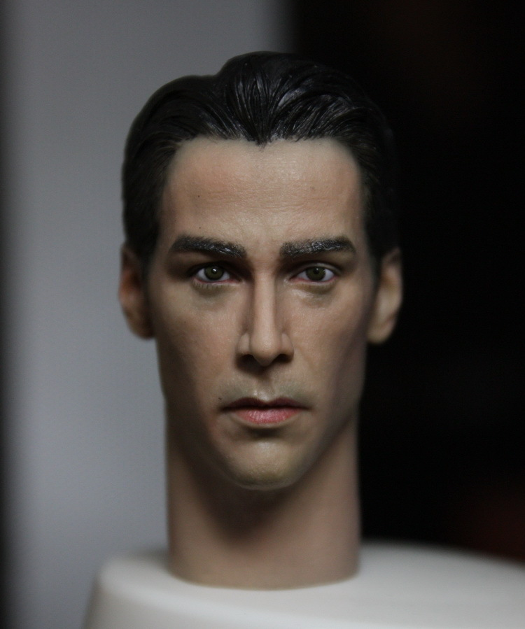 1/6 scale figure doll head.The Matrix Neo Keanu Reeves head.DIY doll accessories for 12  action figure doll headsculpt 1 6 male head sculpt figure accessories keanu reeves matrix neo doll headplay 12 action figure collection toys gift kumik15 2