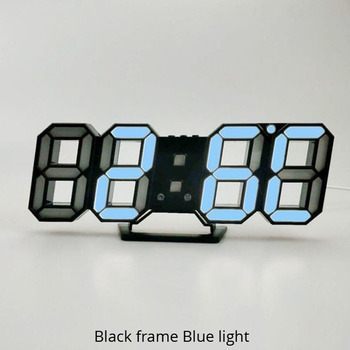 3D LED Wall Clock Modern Design Digital Table Clock Alarm Nightlight Saat reloj de pared Watch For Home Living Room Decoration 9