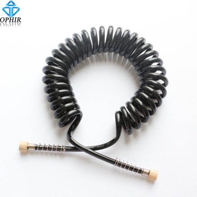 OPHIR 3M 1/8 & 1/8 Airbrush Hose - Coiled Nylon Air Hose Airbrush Accessories# AC026