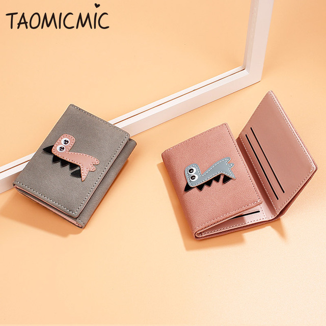 Sweet Ladies Small Wallet Cute Girl Short Wallet PU Female Wallets Card Holder Coin Purse Female Purse Clutch