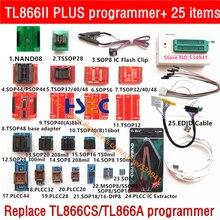 100% オリジナル xgecu TL866II プラスユニバーサルプログラマ nand TSOP48 アダプタ SOP8 フラッシュクリップ minipro TL866cs/eeprom プログラマ