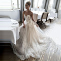 Elegant Wedding Dress 2017 Sweetheart Applique Off Shoulder Soft Tulle Trouwjurk Sleeveless Brautkleid Custom Made Wedding Gowns