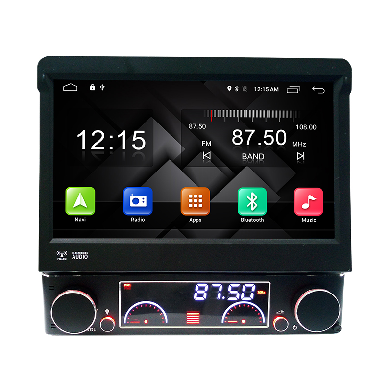 7″ Quad Core Android 4.4 Single One 1 Din Android Universal Car Radio DVD GPS Navigation Central Multimedia Bluetooth Handsfree
