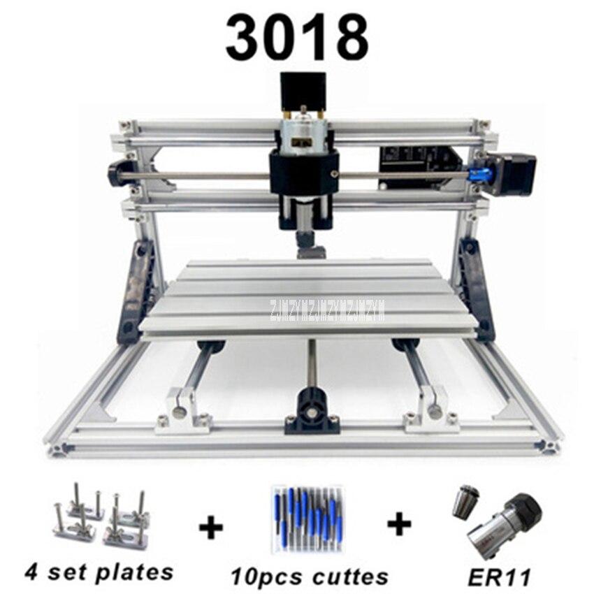 CNC 3018 Machine de gravure bois routeur bricolage outils de menuiserie Mini fraiseuse CNC Machine de gravure 110 V-220 V 100 W (300*180mm)