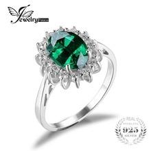 Jewelrypalace 2.5ct кейт принцесса диана уильям обручальное nano россии создан изумрудное кольцо для женщин s925 стерлингов серебряные ювелирные изделия