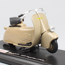 kids 1:18 scale vintage classic maisto Piaggio Vespa MP5 Paperino 1945 motorcycle diecast bike toys models Street Free wheels