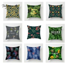 Fuwatacchi Tropical Plant Cushion Cover Floral  Soft Throw Pillow Decorative Sofa Case Pillowcase