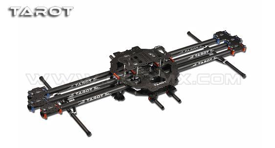 Tarot 680mm empattement en fibre de carbone pliant 6 axes Multicopter Drone cadre kit pour photographie aérienne moniteur télédétection