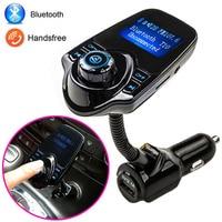 Sıcak Satış Bluetooth Araç Kiti Handsfree Seti FM Verici MP3 müzik Çalar 5 V 2.1A USB Araç şarj, destek Micro SD Kart 1G-32G