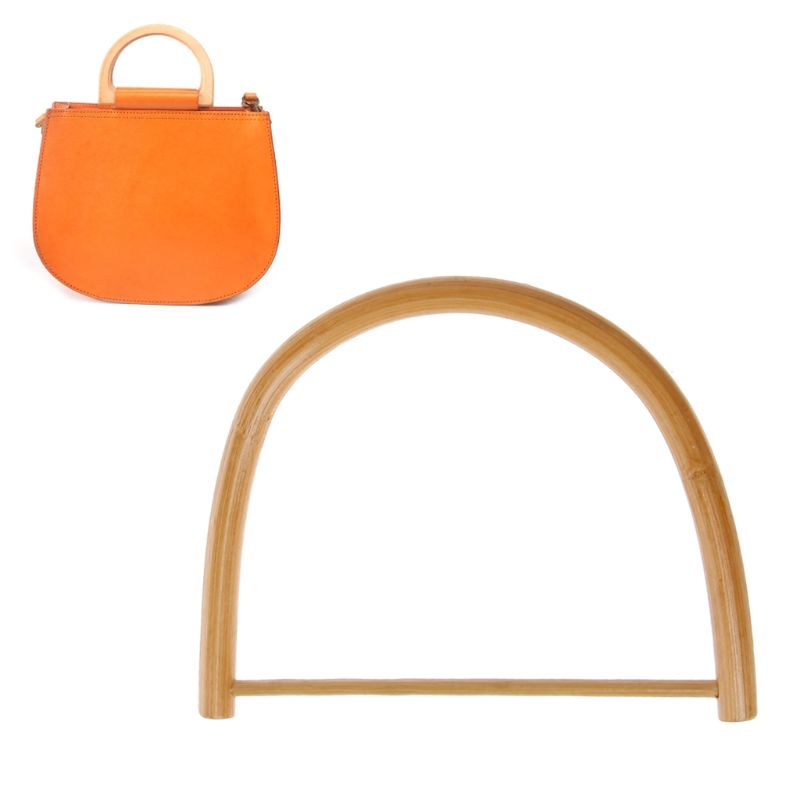 D Shape Wooden Handle For Handmade Handbag DIY Tote Purse Frame Making Bag Hanger