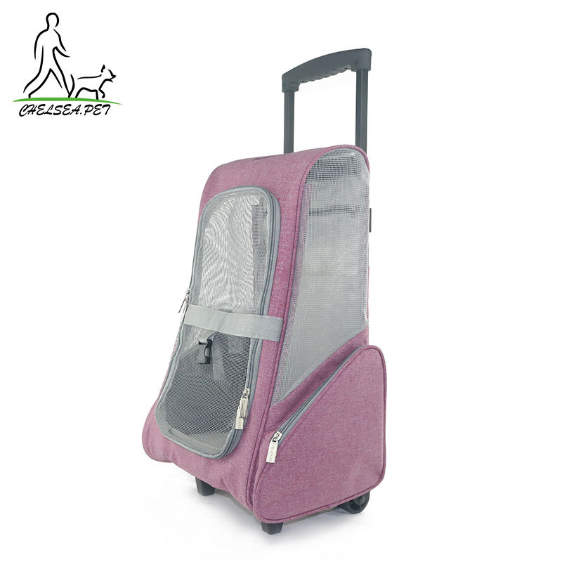 9f547eb972 Trolley Pet Package Removable Flax Cat Dog Cart Package Foldable Easy To  Carry Outdoor Travel Pet Bag Multi-color Optional