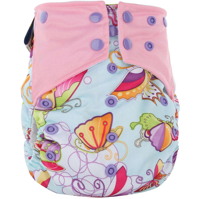 Free shipping 3pcs/lot pororo all in two baby cloth diaper with waterproof PUL, adjustable  AI2 Diaper 16 prints for your choice