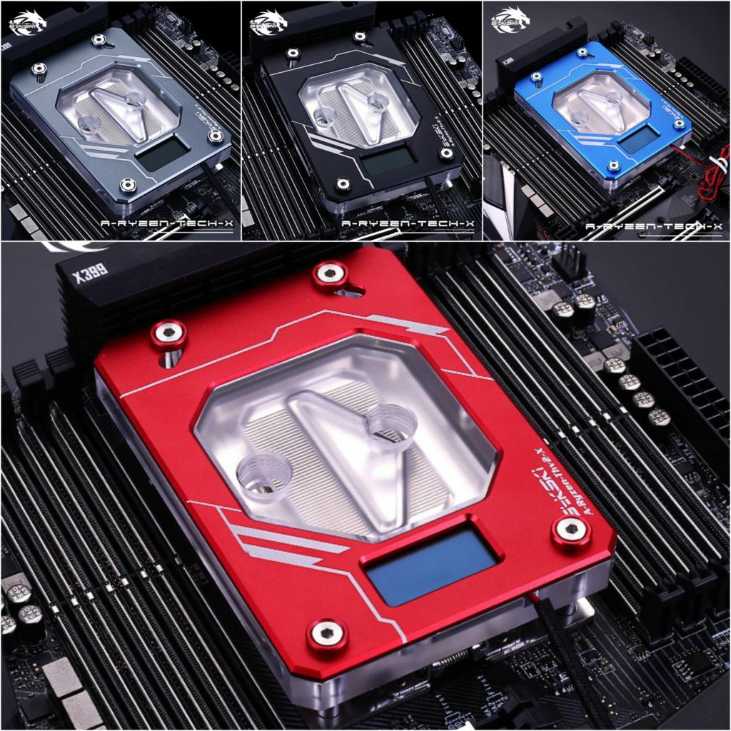 Bykski A-RYZEN-TECH-X CPU Water Cooling Block for AMD AM3 AM4 TR4 X399 Threadripper bykski water cooling radiator cpu block use for amd threadripper 940 am2 am3 am4 x399 1950x rgb or aurora light radiator block