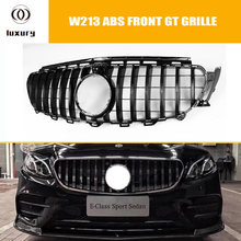 E43 GT Style ABS Front Grill Grille for Benz W213 E200 E260 E300 E320 E400 E43 with AMG Package ( Not fit E63 ) No Star Logo(China)