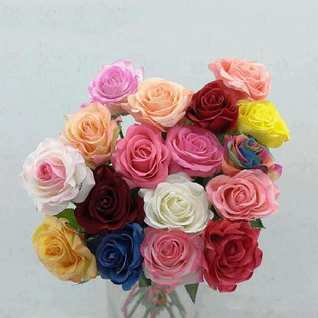 Premium Quality 43cm Diy Artificial Rose Paper Flowers Wedding