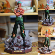 MODEL FANS IN-STOCK one piece 23cm Bloody Roronoa Zoro GK resin statue figure toy for collection
