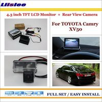 Liislee For Toyota Camry XV50 2012~2015 Auto Back UP Reverse Camera + 4.3 Color LCD Monitor = 2 in 1 Rearview Parking System