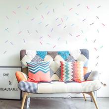 DIY Красочные посыпать конфетти настенные наклейки для девочек комнаты детской стены украшения набор из 4 цветов