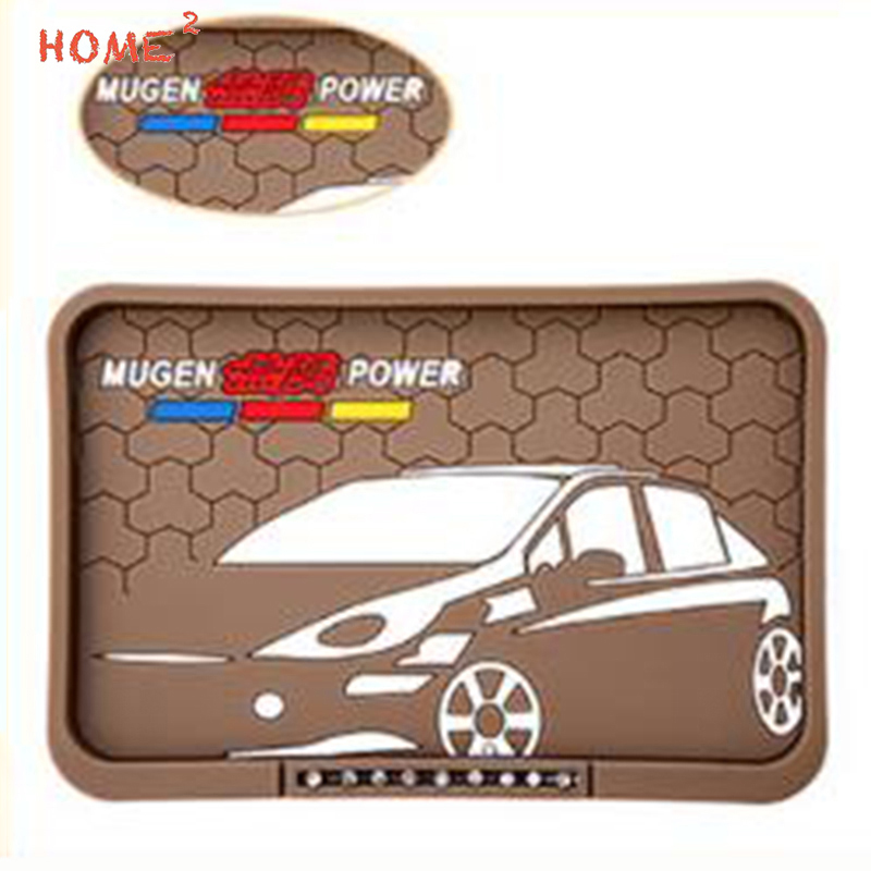 Car Interior Accessories Anti Slip Pad PVC Sticker Phone Auto Non slip Mat for Mugen Power Logo for Honda Odyssey Insight H-RV vehicle car accessories auto car seat cover back protector for children kick mat mud clean bk