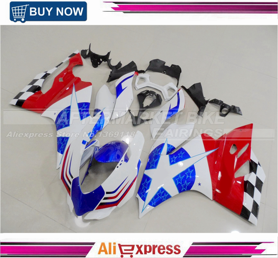 CROSE STAR Aftermarket OEM Fitment Fairings Kits For Ducati 1199 899 100% Easy Installation Fairing Cowling Pearl White free shipping blue white black aftermarket oem fitment kits for yamaha r1 2002