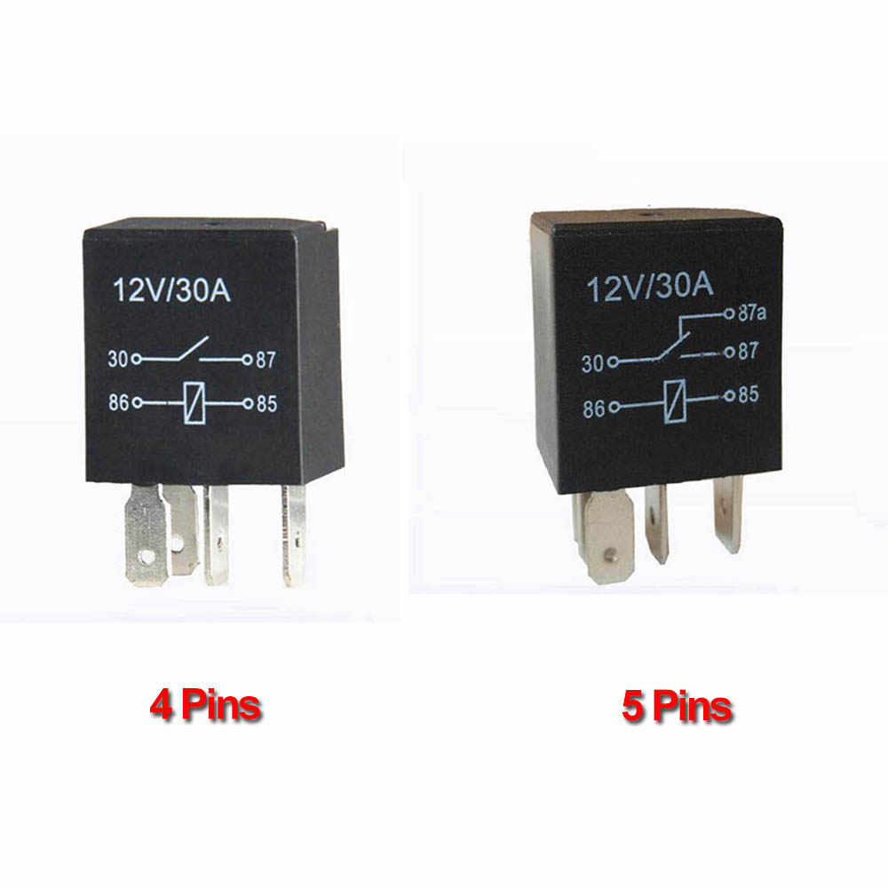 Detail Feedback Questions about 4 Pins/5 Pins 12VDC 30A Violet Car