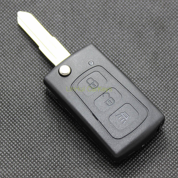 PINECONE for GREAT WALL HOVER HAVAL H5 3 Buttons Uncut Brass Blade Modified Remote Blank Key Shell 1 PC