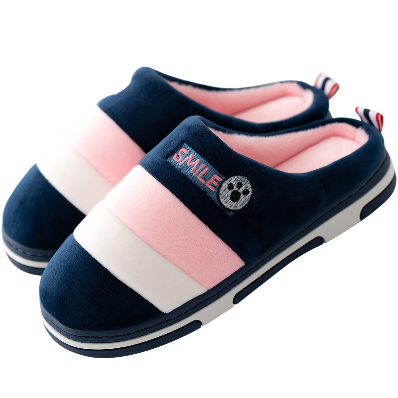 2ba7bc7ee14 Winter Home Slippers Women Warm Flip Flops Cotton Shoes Woman Plush Slides  Antiskid Indoor Slippers Soft