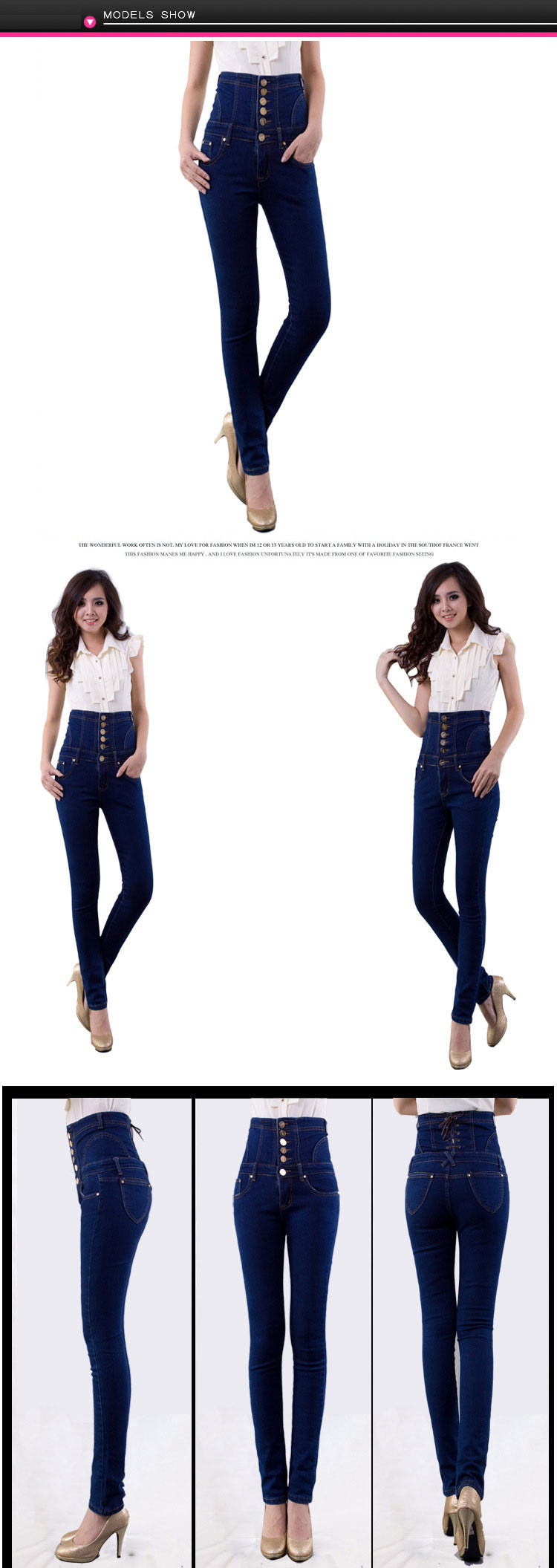 00018454fcc5a 2019 Fashion Vintage Women S Empire Waist Jeans Woman Skinny Super ...