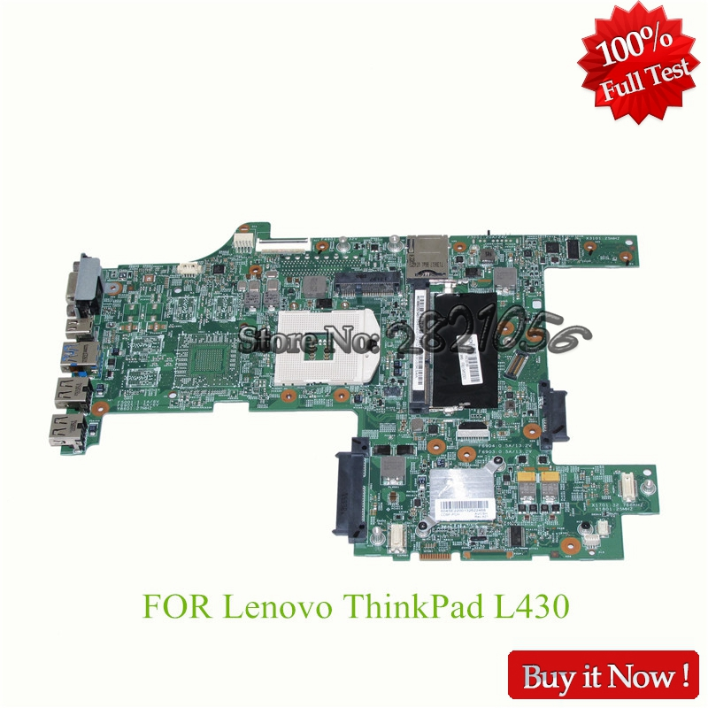 NOKOTION Mainboard FRU 04Y2001 For lenovo thinkpad L430 14 ''Laptop motherboard DDR3 HD4000 Fully Tested hot selling k72ju k72jt laptop motherboard for x72j mainboard hd6370m rev2 0 512m ddr3 216 0774211 fully tested 100% s 6