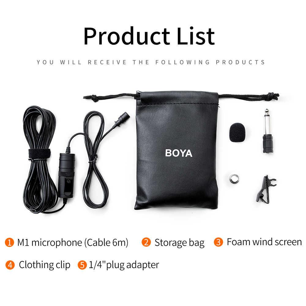 BOYA BY-M1 Lavalier Condensator Microfoon voor Canon Nikon DSLR Camcorders voor iPhone X 7 Plus Audio Video Recorder