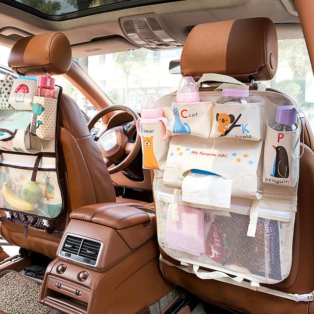 Cartoon Waterproof Universal Baby Stroller Bag Organizer Baby Car Hanging Basket Storage Stroller Accessories